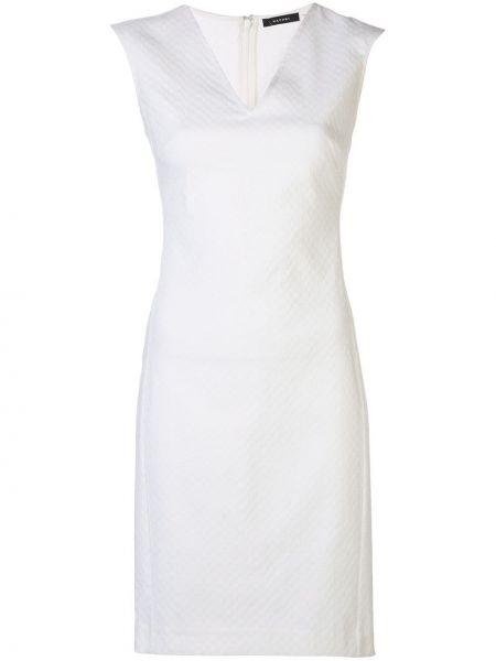 Нейлоновое приталенное платье на молнии без рукавов Natori