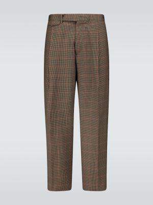 Beżowe spodnie wełniane Rochas