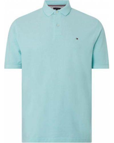 T-shirt bawełniana - turkusowa Tommy Hilfiger Big & Tall