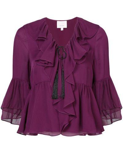 Блузка с рюшами шелковая Cinq A Sept