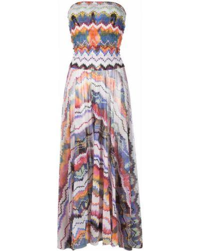 Пляжное платье макси - белое Missoni