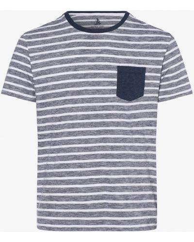 Biały t-shirt w paski na co dzień Andrew James Sailing