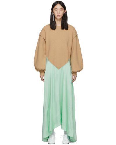 Платье макси со вставками вязаное Jw Anderson