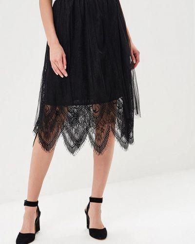 Черная юбка весенняя Paccio