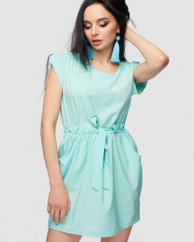 Платье весеннее бирюзовый 0101 Brand