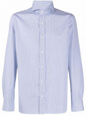 Niebieska koszula z długimi rękawami Borrelli