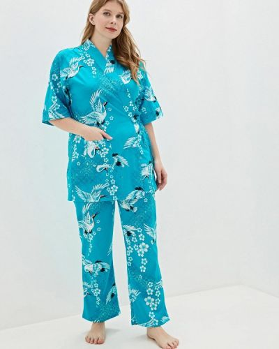 Голубой костюм осенний El Fa Mei
