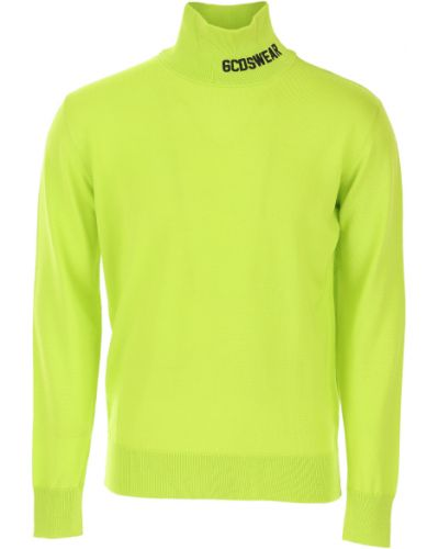 Prążkowany sweter z akrylu z długimi rękawami Gcds