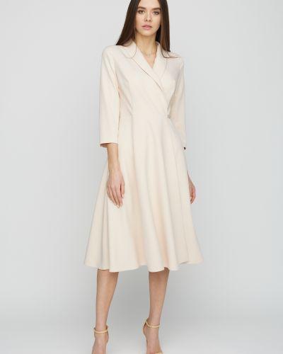 Приталенное платье миди с запахом Cardo