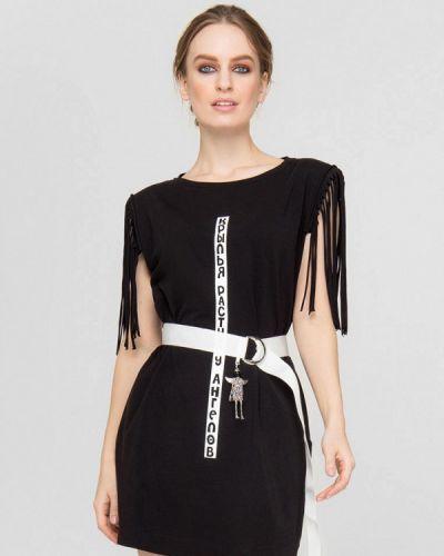 Черное платье а-силуэта Lo