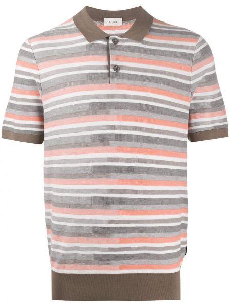 Koszula krótkie z krótkim rękawem klasyczna w paski Z Zegna