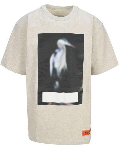 Beżowa t-shirt Heron Preston