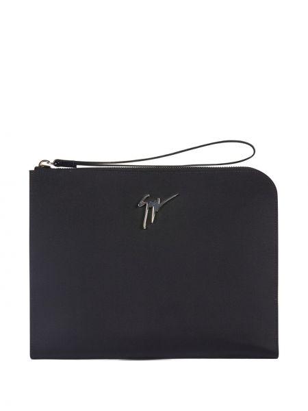 Черный клатч с карманами прямоугольный Giuseppe Zanotti