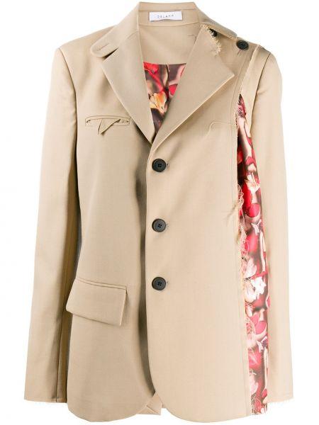 Шерстяной классический пиджак с карманами на пуговицах Delada
