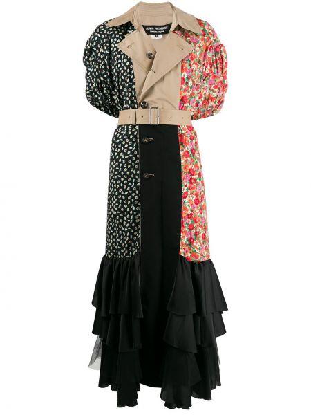 Klasyczna sukienka mini z kapturem krótki rękaw Junya Watanabe