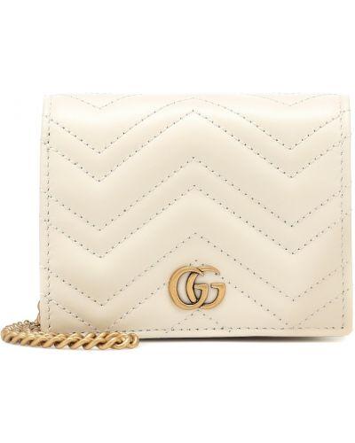 Biały portfel z prawdziwej skóry Gucci