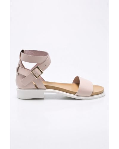 Сандалии розовый на каблуке Wojas