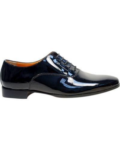 Туфли черные Santoni