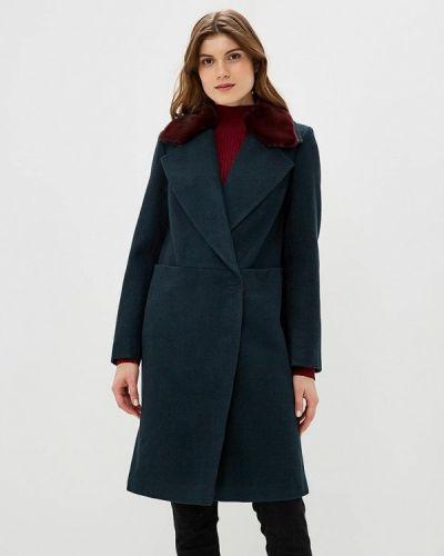 Бирюзовое пальто с капюшоном Grand Style