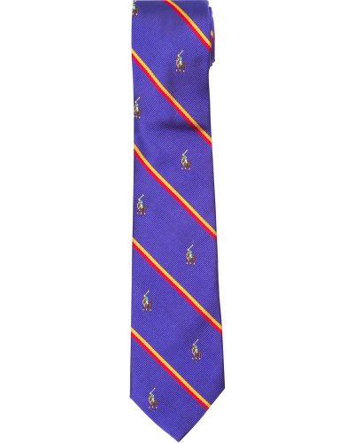Нарядный синий галстук Ralph Lauren