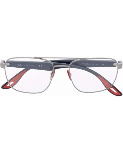 Okulary srebrne - niebieskie Ray-ban