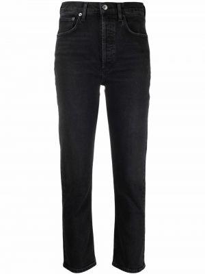 Льняные прямые джинсы классические на шпильке Agolde