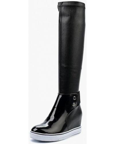 Кожаные сапоги осенние лаковые Dino Ricci Trend