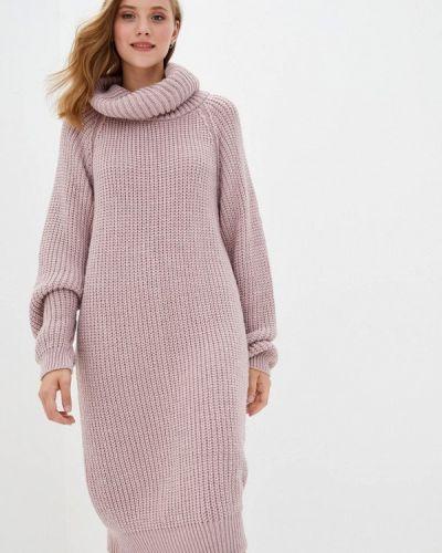 Розовое вязаное платье Прованс