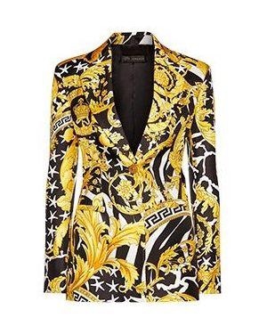 Пиджак - желтый Versace