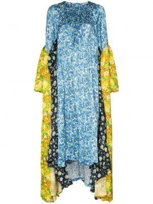 Платье миди с цветочным принтом с драпировкой Vetements