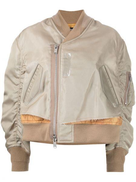Бежевая куртка на молнии Undercover