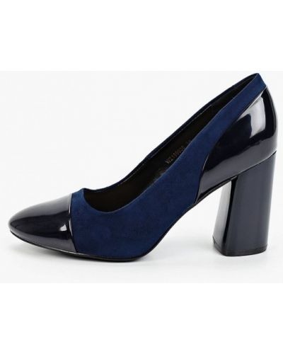 Лаковые кожаные синие туфли T.taccardi