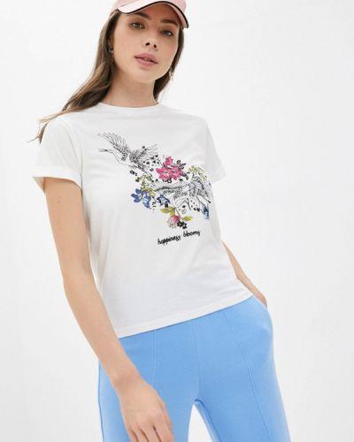 Белая футболка с короткими рукавами Naf Naf