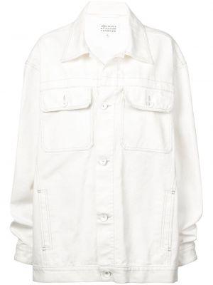 Джинсовая куртка оверсайз - белая Maison Margiela