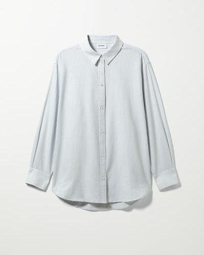 Оксфордская рубашка - синяя Weekday