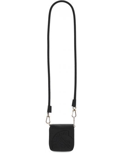 Czarny portfel skórzany Moncler