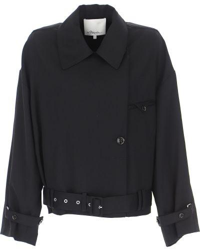 Czarna kurtka asymetryczna bawełniana 1. Phillip Lim