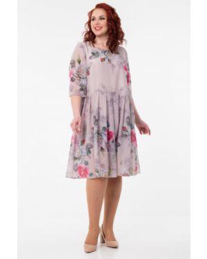 Шифоновое вечернее платье - серое Wisell