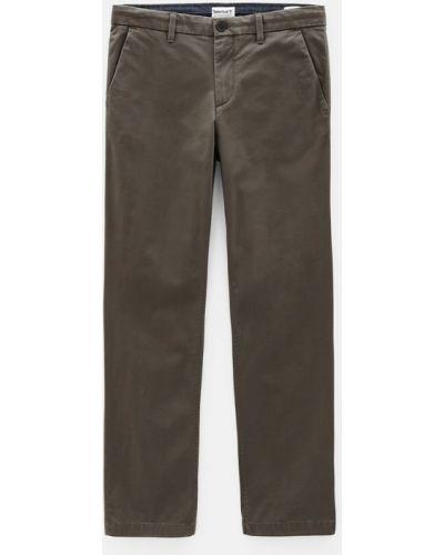 Зеленые кожаные брюки стрейч Timberland