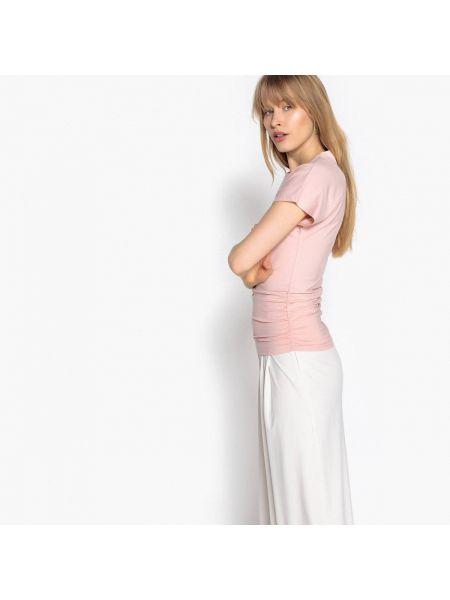 Розовая футболка La Redoute Collections