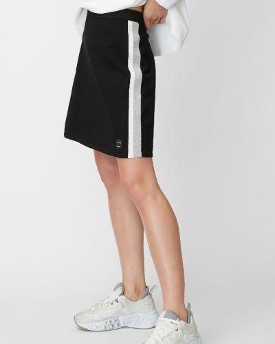 Повседневная черная джинсовая юбка с поясом без застежки Marc O' Polo
