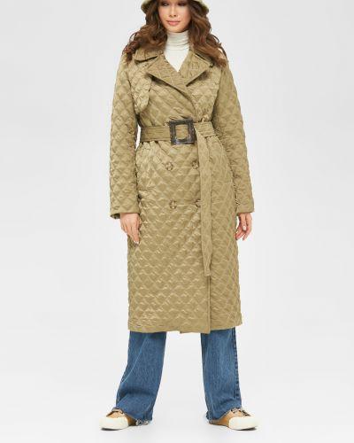 Стеганое пальто - зеленое Mila Nova