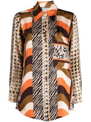 Шелковая рубашка с воротником с карманами Pierre-louis Mascia