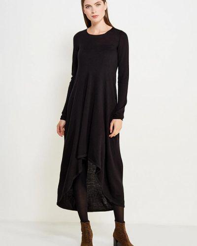 Платье осеннее черное Brusnika