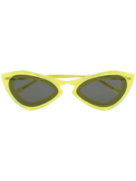 Żółte okulary z akrylu Calvin Klein 205w39nyc