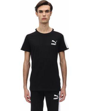 Czarny t-shirt bawełniany Puma Select