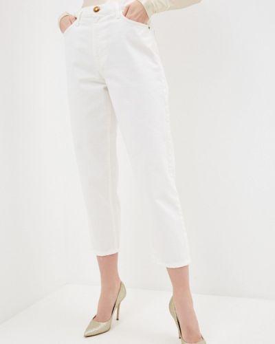 Расклешенные белые широкие джинсы Pinko