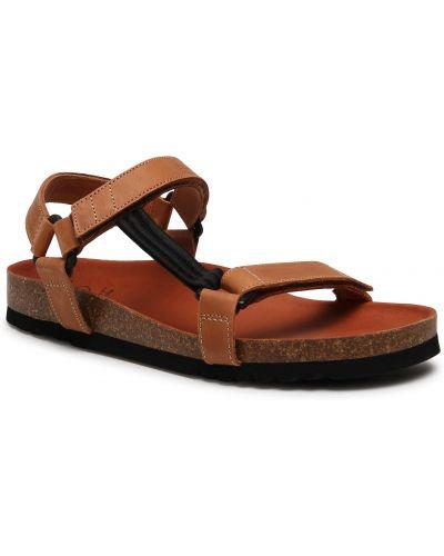 Sandały skórzane - brązowe Scholl