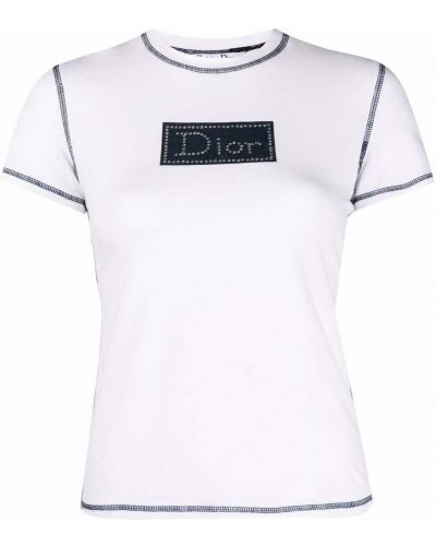 Biała t-shirt bawełniana Christian Dior