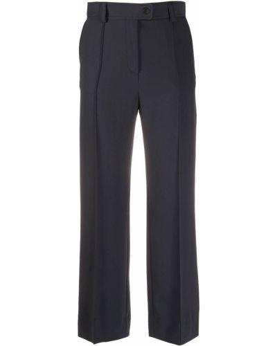 Черные укороченные брюки с карманами из вискозы See By Chloé